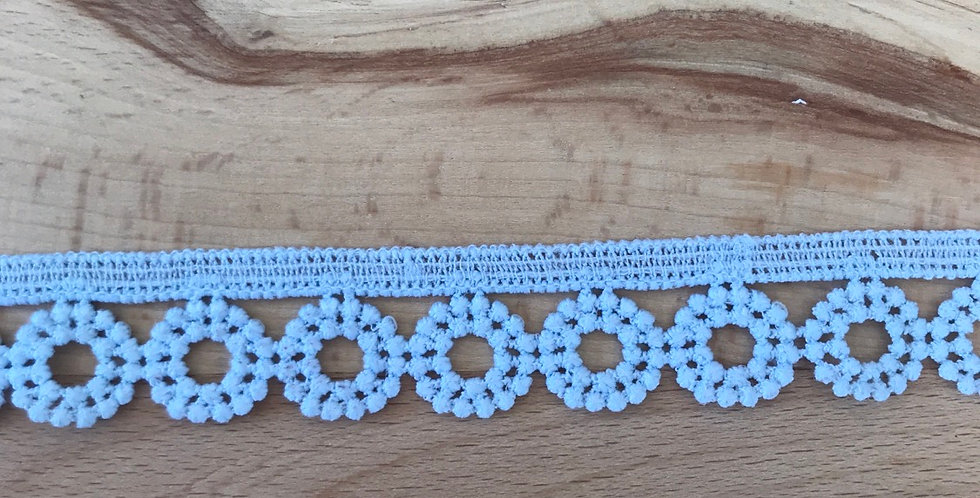 Angel lace trim blue