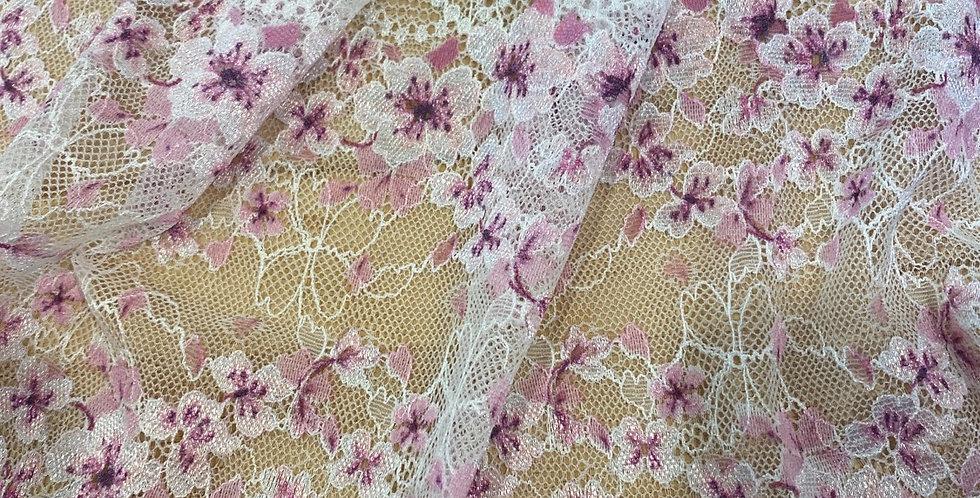 petal stretch lace