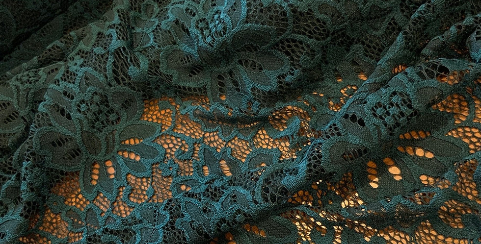 Deep Teal Stretch Lace