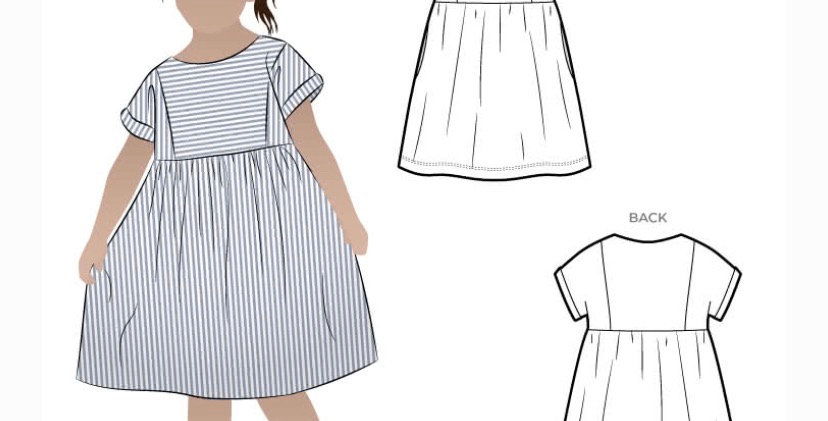 Style arc Lacey kids dress printed pattern