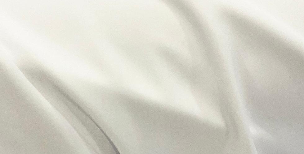 White Mid-Heavy Weight Matte Finish Lycra....