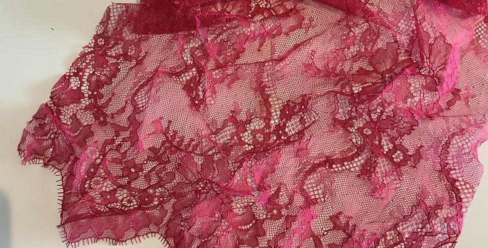 Raspberry  Eyelash Lace Piece #4009