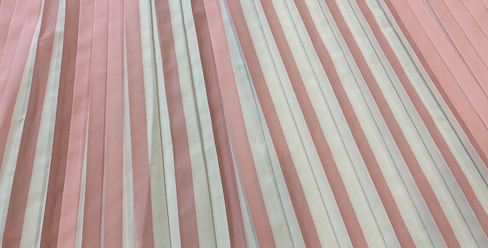 Musk Pink Stripes Permanent Pleat Crepe...