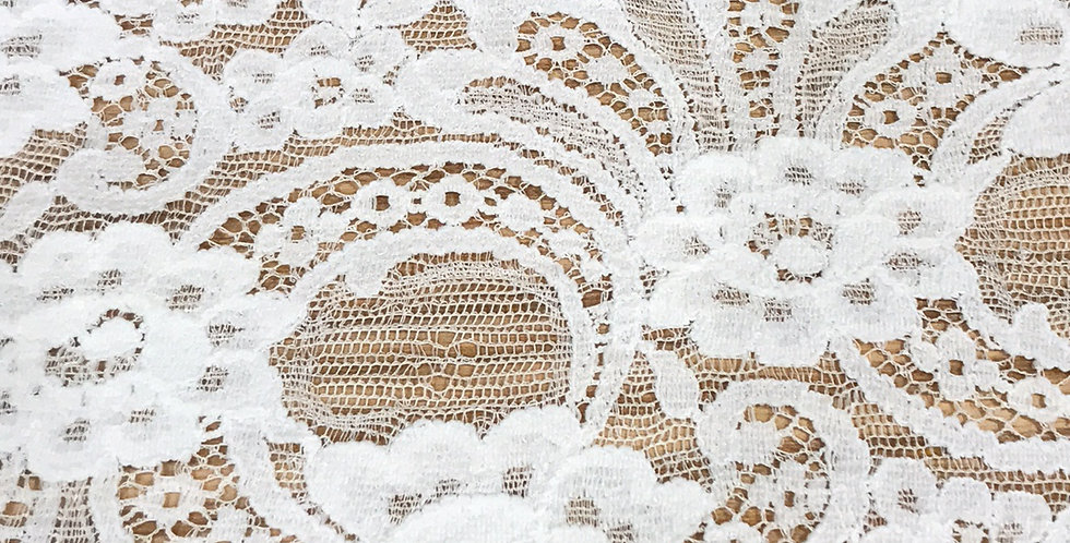 Ivory Cascade Stretch Lace....