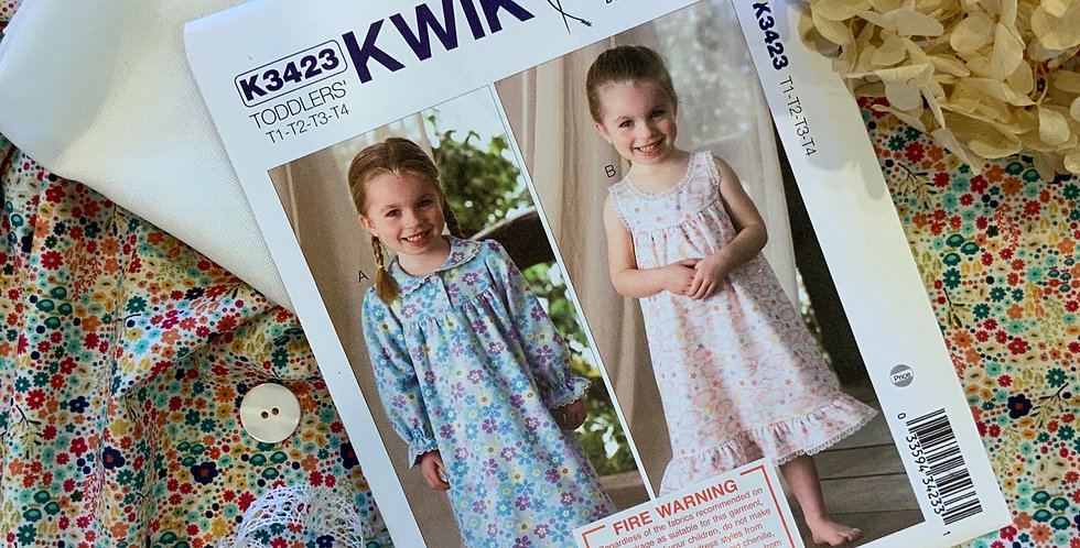 Ditsy Floral Devonshire Lawn Toddlers 1-4 Summer Nighty Kit...