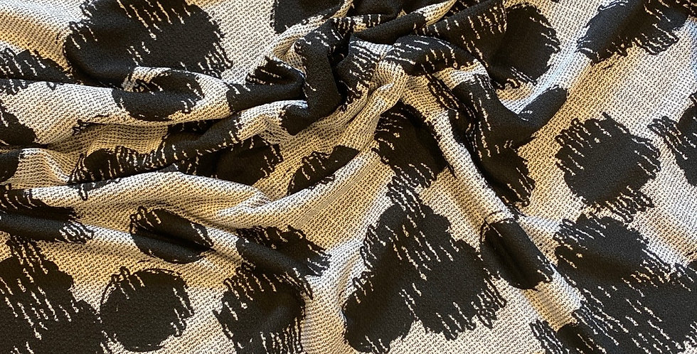 Amira black and grey poly knit remnant