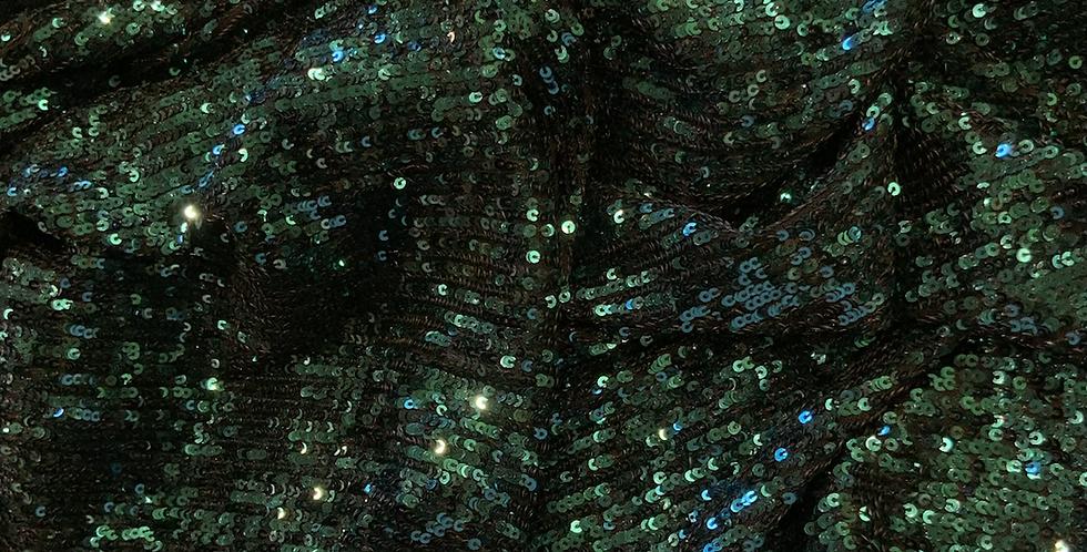 Emerald Shimmer Stretch Sequin Mesh...