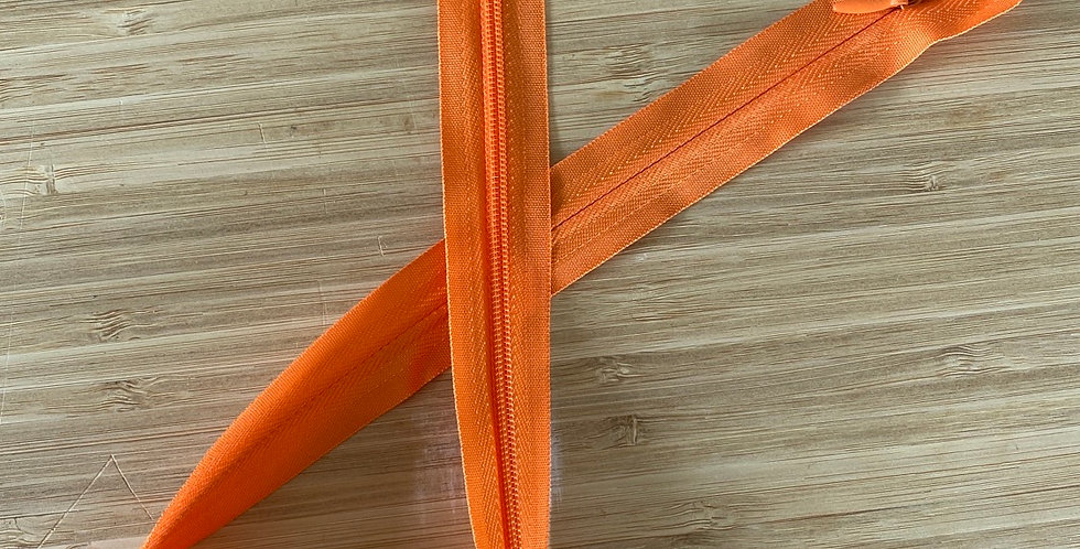 orange 55cm invisible zip