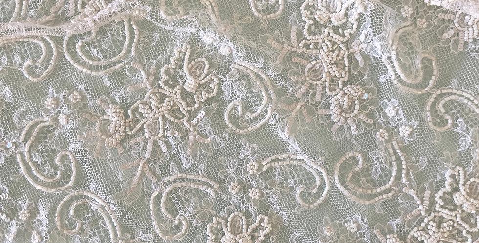 White Bridal Off Cut Piece #2023