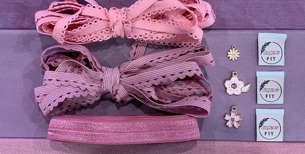 Bubblegum Berry Mottled Hand Dyed Knickers Kit…