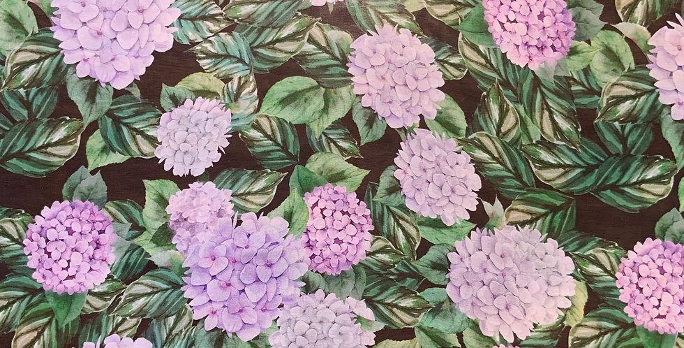 Hydrangea garden silk chiffon