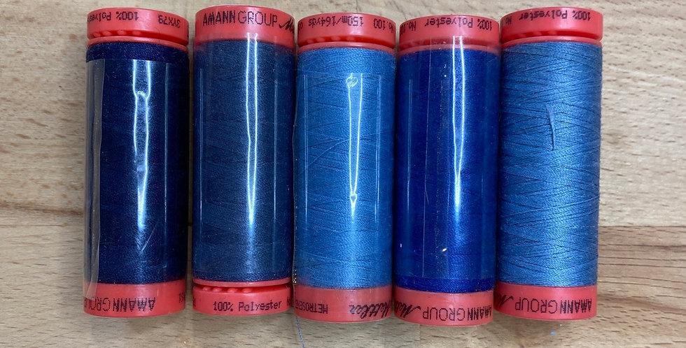 Metrosene Mixed Blue Thread Pack #2