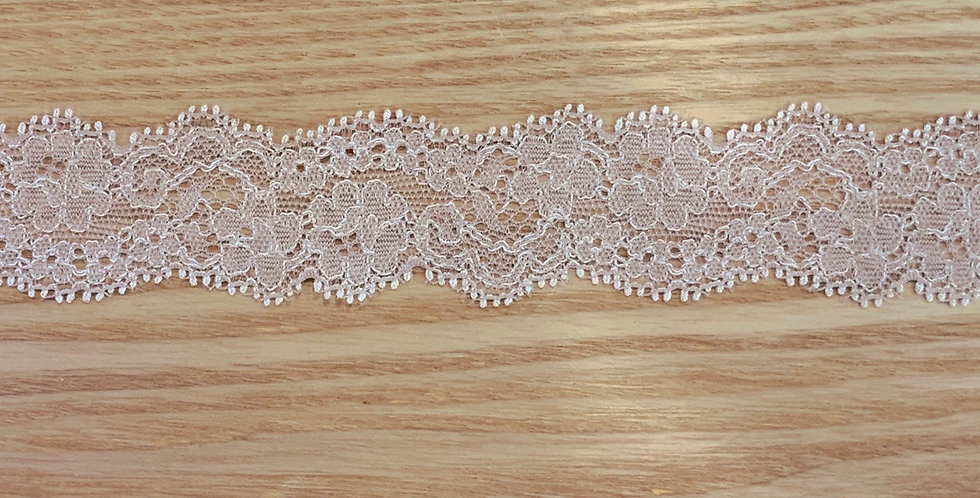 Pale Mocha Pink Hand Dyed Stretch Lace...