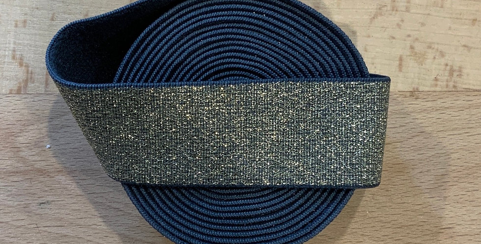 Gold Grey Lurex 2.3mtr roll Strapping Elastic