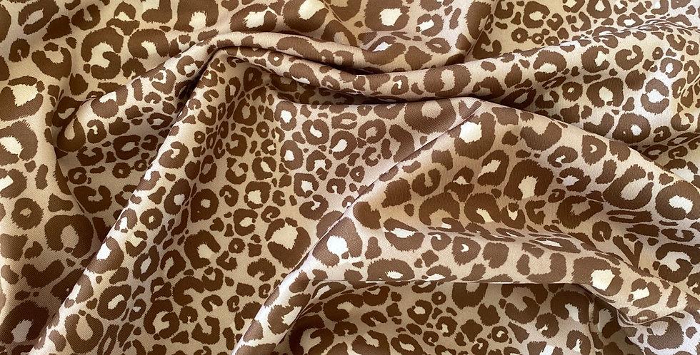 Mocha baby leopard lycra