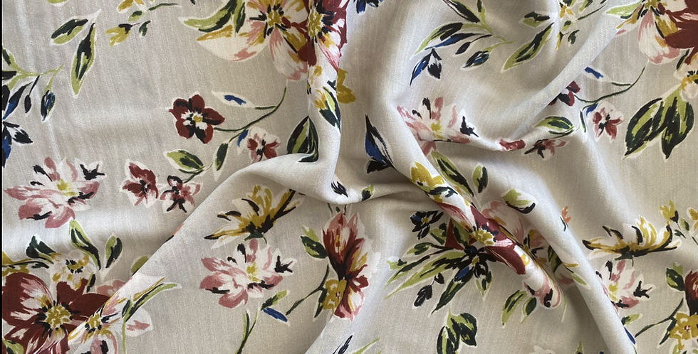 Lady McElroy fifties floral viscose crepe