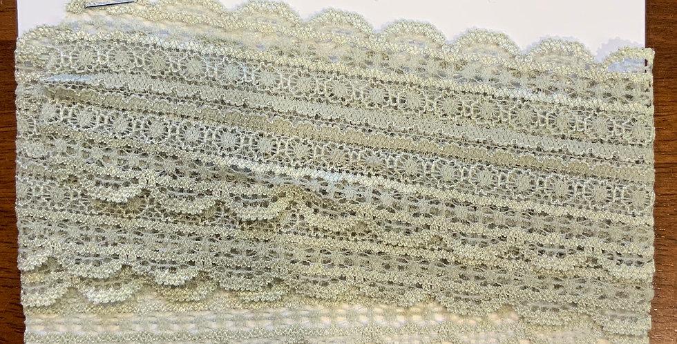 Sage Stretch Lace 1.5mtr piece