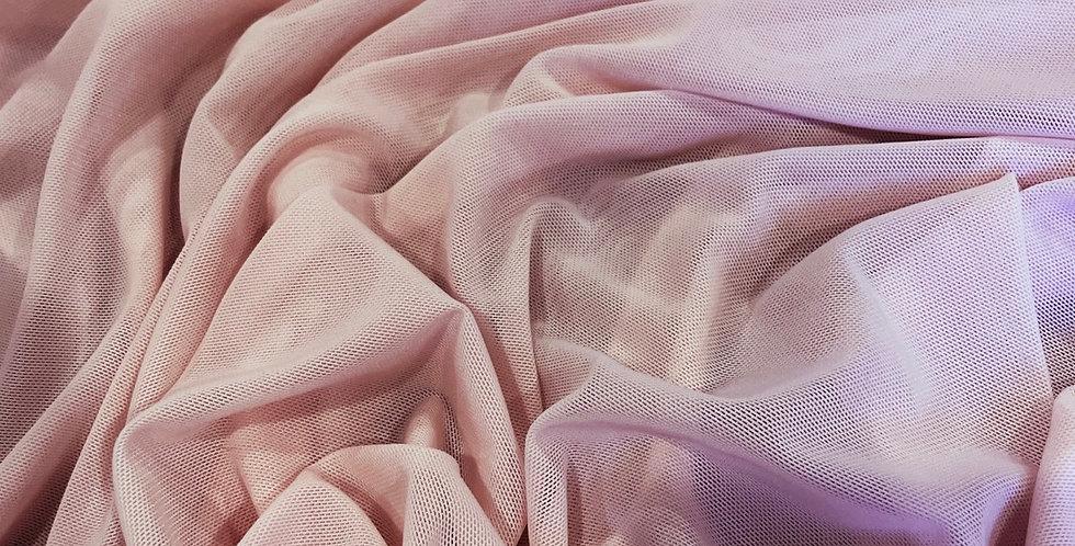 powder pink 4 way stretch mesh small cut