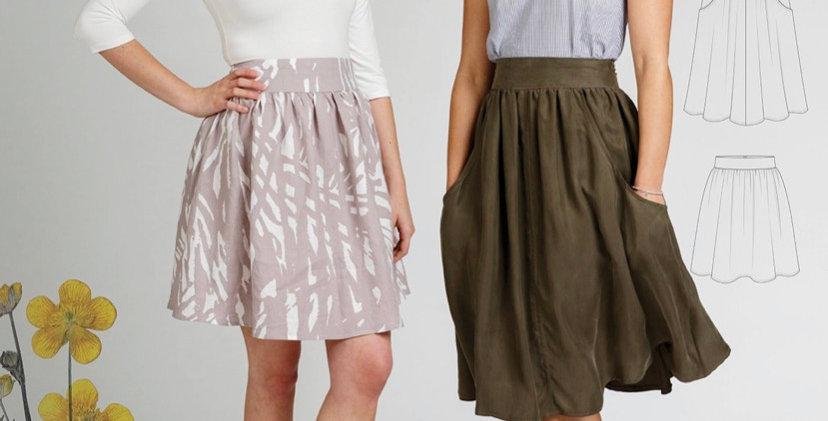 Megan Nielsen brumby skirt printed pattern