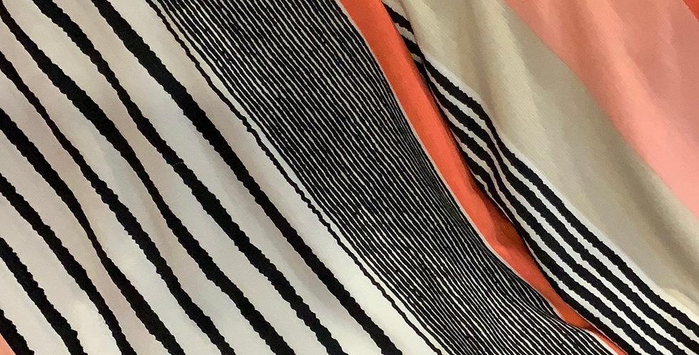 Citrus Stripes Polyester Jersey....