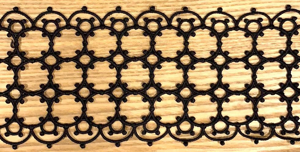 Vatican Black Lace Trim