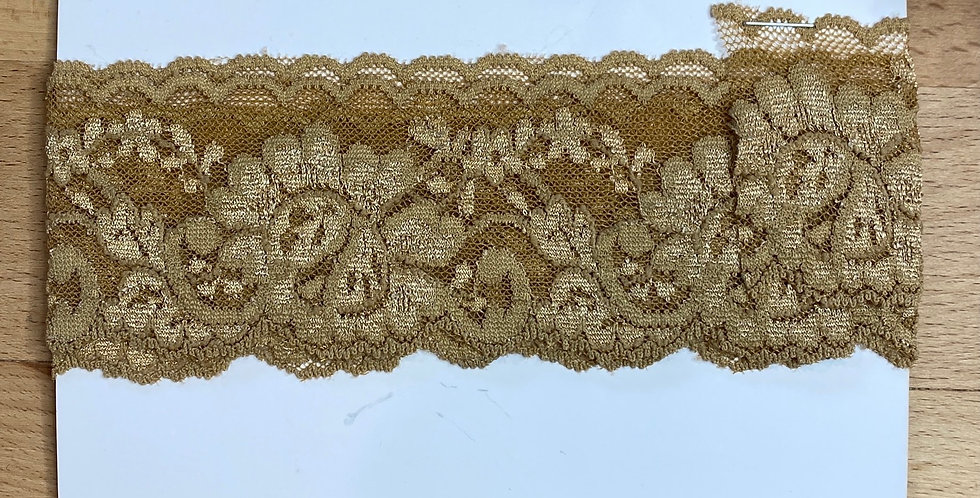 Old Gold Stretch Lace 1mtr...
