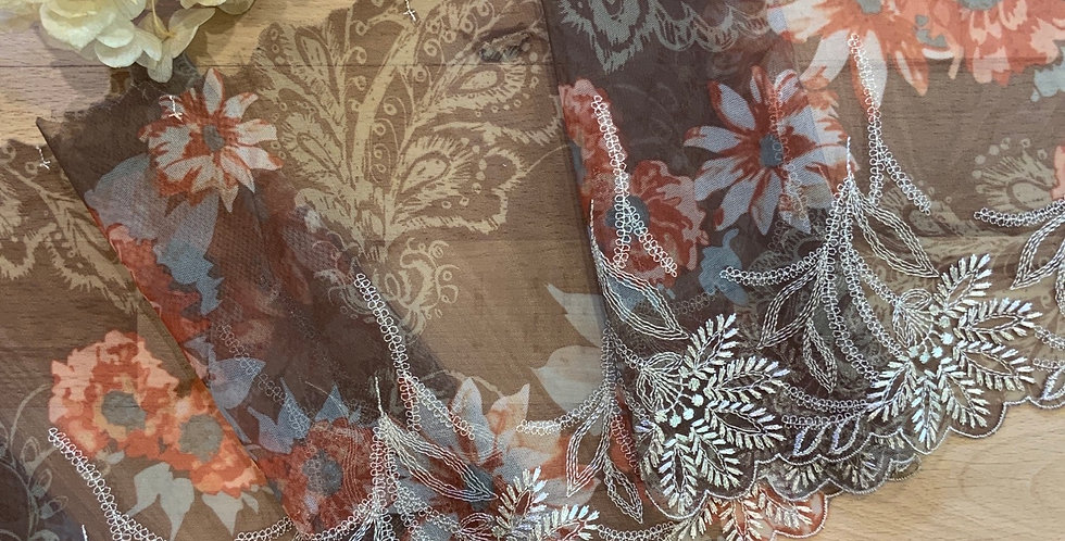 Bohemian Bloom Nutmeg Embroidered Lace...