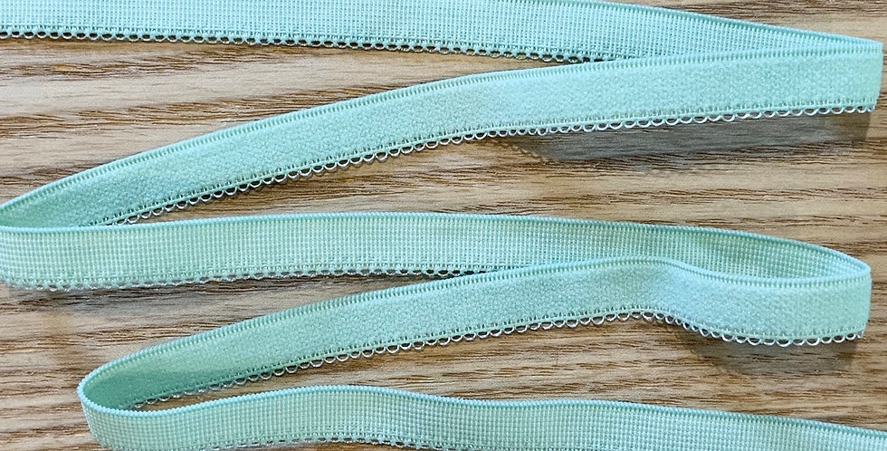 Pale Spearmint Scallop Edge Elastic...