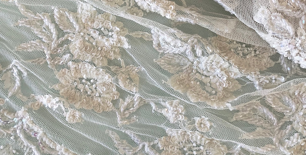 Cream Bridal French Lace Piece #2021