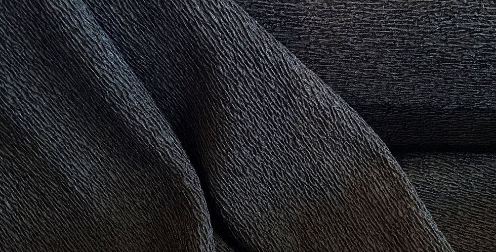 Black Textured Double Knit...