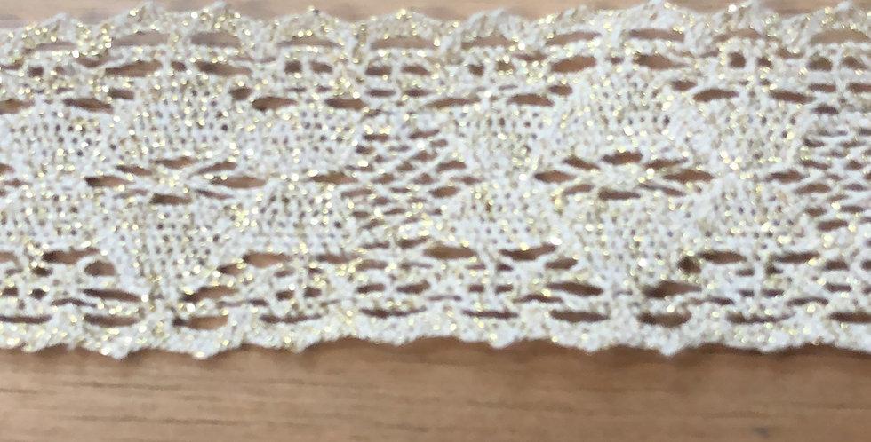 Grace soft gold metallic lace trim
