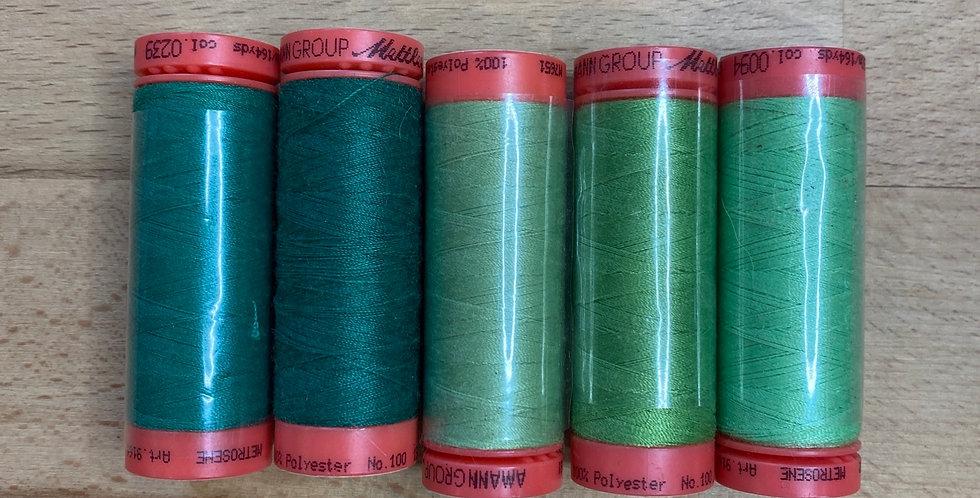Metrosene Mixed Green Thread Pack #5