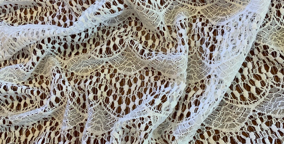 Soft Swag Natural White Polyester Lace Remnant....