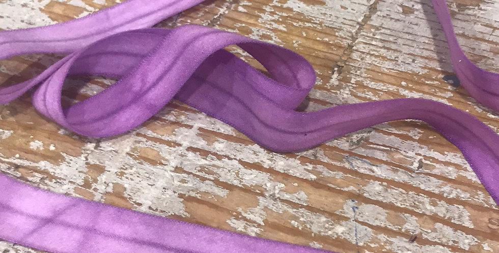 Mauve mottled foldover elastic