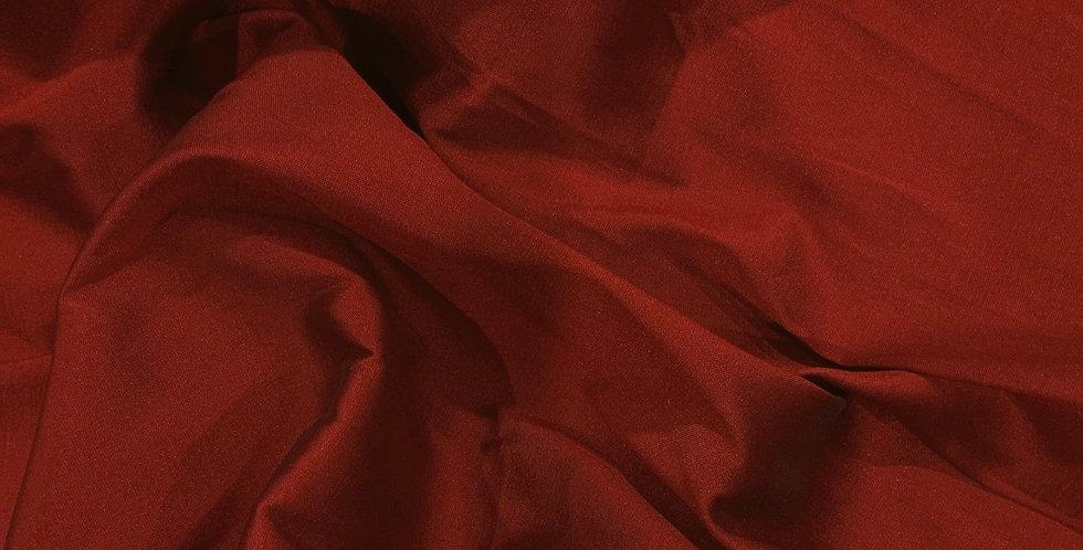 Red Polyester Shot Taffeta Remnant....
