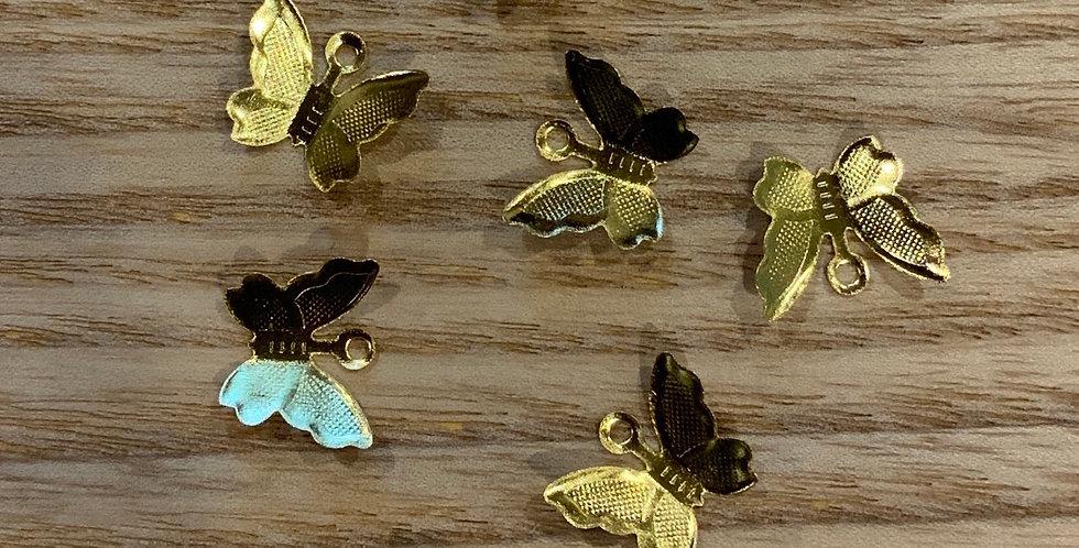 Gold Butterflies Charm