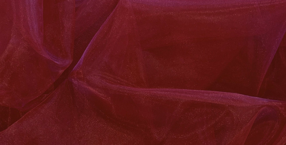 3mtr Bundle Raspberry Polyester Organza