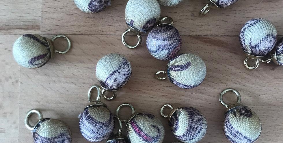 Fabric covered ball charm Caribbean