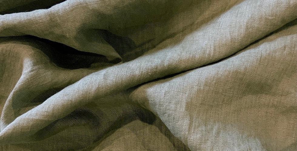 Crinkle Khaki Lightweight Linen