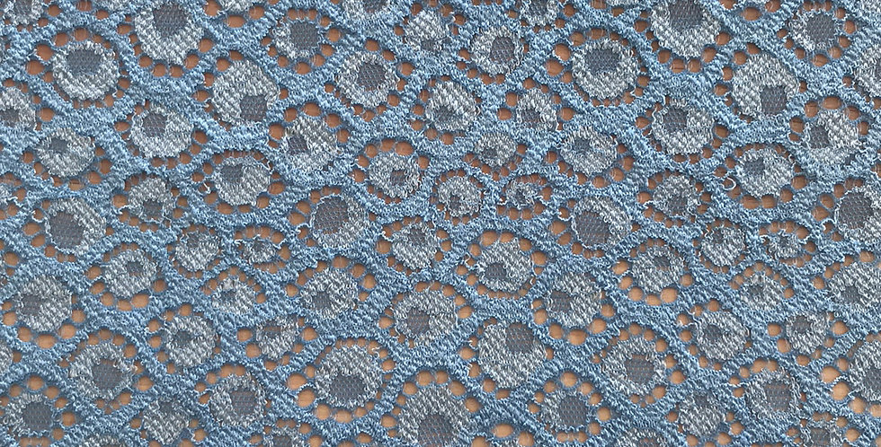Blue Dot Hand Dyed Stretch Lace....