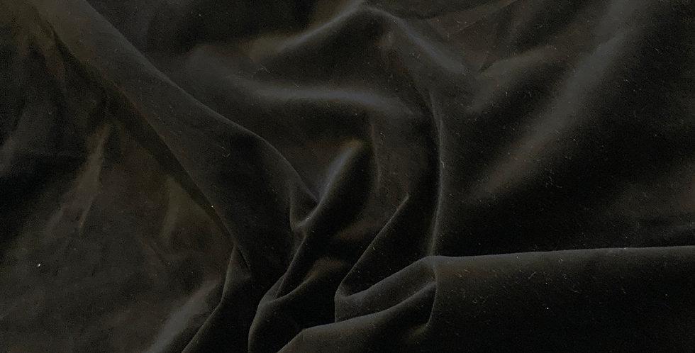 Black Stretch Cotton Velvet Remnant
