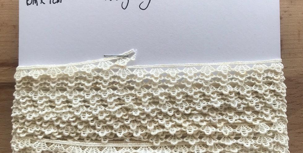 Vintage English cotton lace remnant