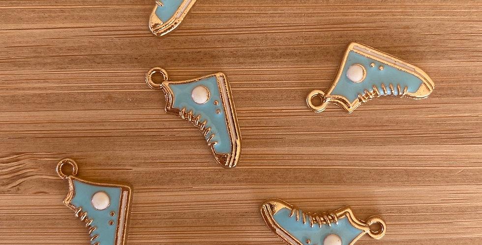 Tiffany blue high top sneaker charm