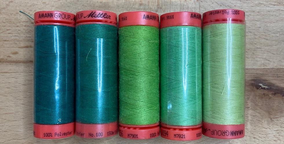 Metrosene Green Mixed Thread Pack #1