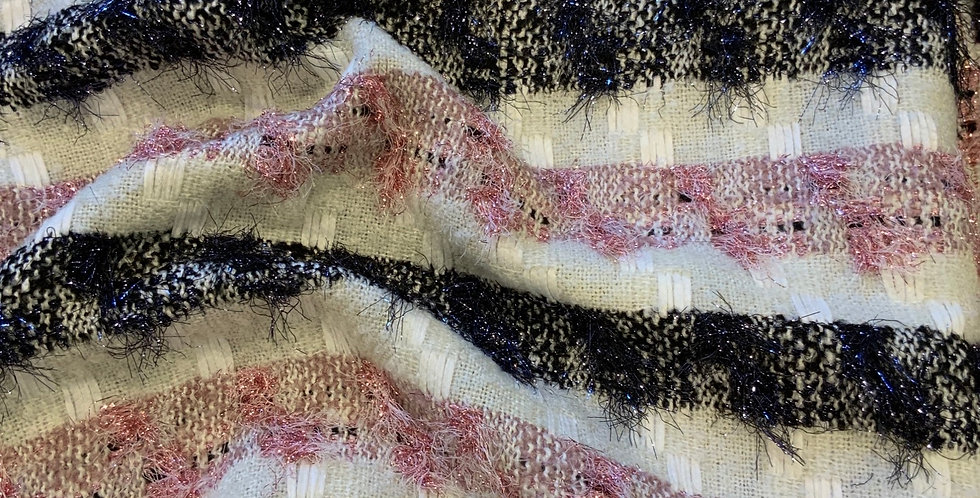 Adalina Lurex Stripe Boucle Suiting Remnant