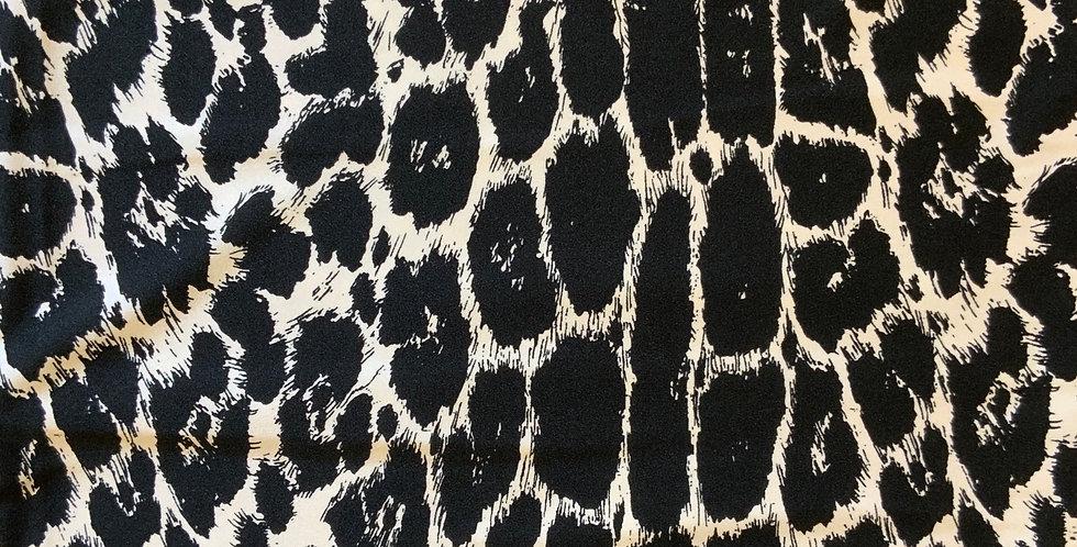 Monochrome Leopard Lycra Remnant...