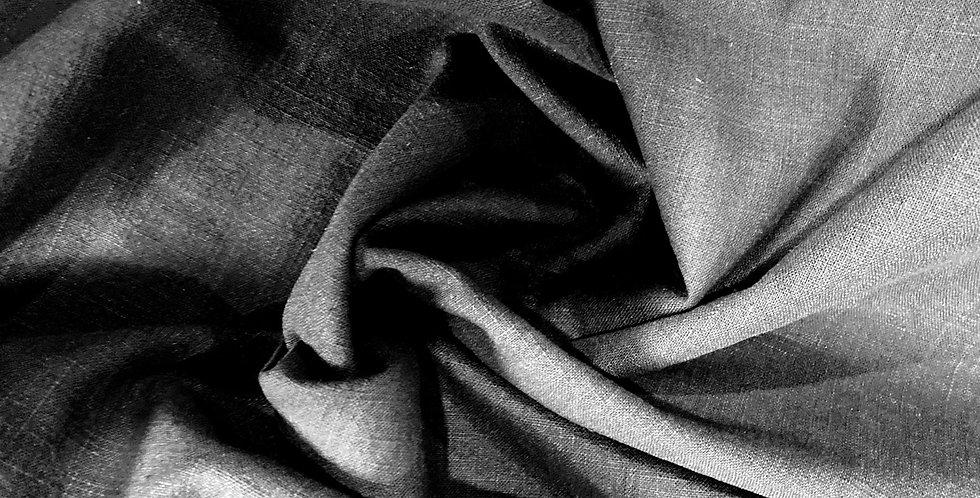 Black vintage wash linen remnant
