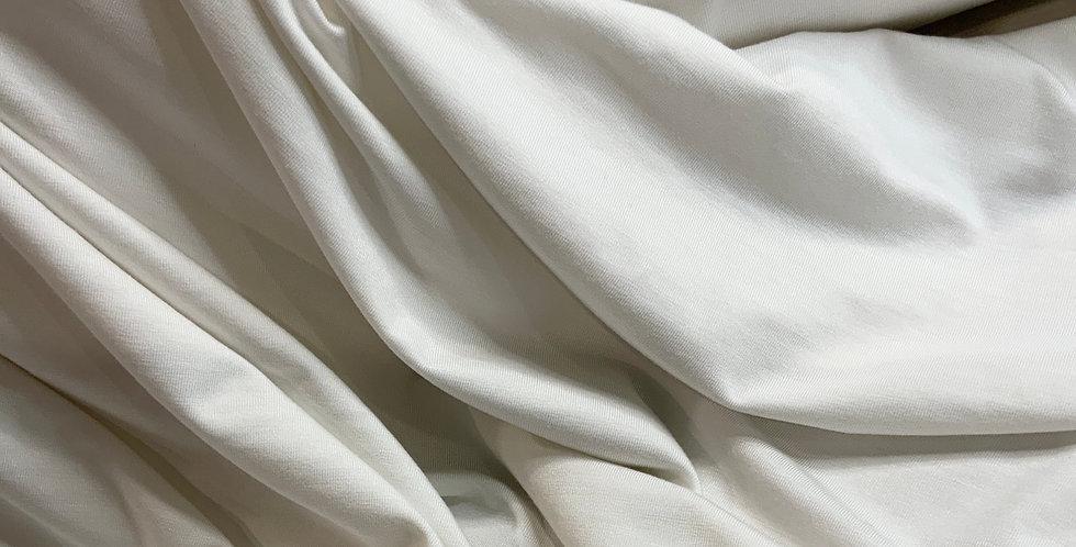 Softest White Bamboo Single Knit jersey