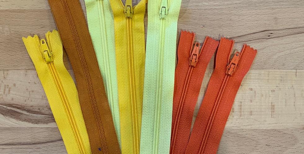 7 Assorted Zippers