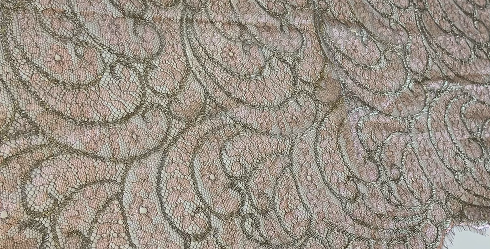 Rose Gold French Chantilly Lace Piece #4027
